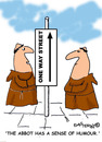 Cartoon: HOLY ORDERS 4 english (small) by EASTERBY tagged monks halos heaven