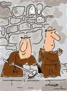 Cartoon: HOLY ORDERS 8 (small) by EASTERBY tagged monks halos faith believing cleaning