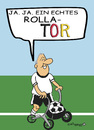 Cartoon: Rolla TOR (small) by EASTERBY tagged senioren,rollatoren,füssball