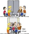 Cartoon: Rollator Salat (small) by EASTERBY tagged rollatoren,senioren,old,peoples,home