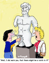 Cartoon: Watch out (small) by EASTERBY tagged statues,museums