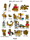 Cartoon: ALFamoso ALF (small) by Munguia tagged alf word game play palabras