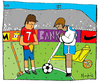 Cartoon: Angelus (small) by Munguia tagged soccer futbol sports munguia millet angelus french costa rica france