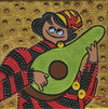 Cartoon: Avocado seller (small) by Munguia tagged lute,player,frans,hals,avocado,guitar,bufon,con,laut,joven,parody