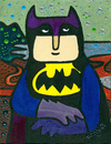 Cartoon: batimonalisa (small) by Munguia tagged mona,lisa,gioconda,da,vinci,leonardo,munguia,finger,nasty,rude