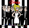 Cartoon: Blondie (small) by Munguia tagged blondie pepita comic strip parallel lines 70s album cover parodies