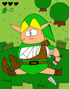 Cartoon: Broken link (small) by Munguia tagged zelda,video,games,link,bronken,no,cash,money,rupies,nintendo,videogame,hyrule