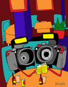 Cartoon: Camerades (small) by Munguia tagged camera bar cheers brindis camara camarada camarades beer pub