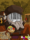 Cartoon: Da Vinci Code (small) by Munguia tagged da,vinci,code,parody,version,humor,fun,cartoon,joke,dan,brown