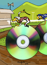 Cartoon: Disc  Jockey (small) by Munguia tagged cd,disd,dj,jockey,dvd,player