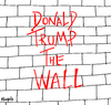 Cartoon: Donald Trump The Wall (small) by Munguia tagged the wall donald trump pink floyd album cover parody portada disco el muro mexico frontera usa