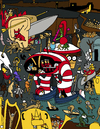 Cartoon: Garden of Early Waldo (small) by Munguia tagged hieronymus,bosch,garden,of,earthly,delights,waldo,wheres