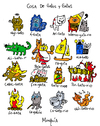 Cartoon: gatos y gatas (small) by Munguia tagged cats gatos gatas word play game sufijos munguia kitty