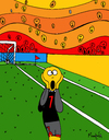 Cartoon: Goal! (small) by Munguia tagged scream,soccer,goal,futball,munch,munguia,edvard,parody