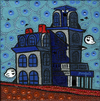 Cartoon: Haunted house (small) by Munguia tagged house,by,the,railroad,edward,hopper,boo,ghost,mario,bros,casa,encantada,famous,paintings,parodies,parody
