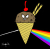 Cartoon: Helado Oscuro de la Luna (small) by Munguia tagged dark,side,of,the,moon,pink,floyd,helado,munguia,costa,rica,disc,album,cover,parody,rock,music
