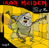 Cartoon: Iron Maiden (small) by Munguia tagged piss of mine iron maiden cover album parody parodies