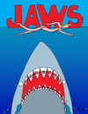 Cartoon: Jaws (small) by Munguia tagged jaws shark teeth dientes tooth braces