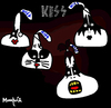 Cartoon: Kisses (small) by Munguia tagged kiss cover album parody 70s rock kisses chocolate choco hersheys