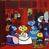 Cartoon: Las Mininas 2015 (small) by Munguia tagged diego velazquez las meninas mininas kitten gatos gatas cats chats spoof famous paintings parodies art iconic version