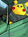 Cartoon: Lem Pika (small) by Munguia tagged selfportrait,in,green,bugatti,tamara,lempicka,picachu
