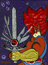 Cartoon: Lion Oh No! (small) by Munguia tagged thunder,cats,liono,munguia,comics,superheroes,cartoon,tv,show,80s