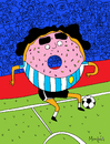 Cartoon: MaraDona (small) by Munguia tagged maradonna,dona,donut,soccer,futball,argentina