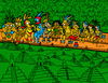 Cartoon: Mayan Lunch time at top (small) by Munguia tagged lunchtime,skyscratcher,rockefeller,charles,ebbets,maya,piramide,mayan,munguia,parody,photo,cartoon,costa,rica,centroamerica,precolombino,america,2012