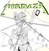 Cartoon: Mordaza (small) by Munguia tagged metallica and justice for all cover album parodies parody spoof version disc