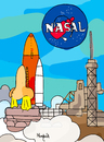Cartoon: Nasal launch (small) by Munguia tagged nasa,space,launch,nasal,rocket