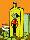 Cartoon: olive oil (small) by Munguia tagged popeye,olive,oil,cartoon,king,featuring,munguia,costa,rica