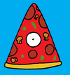 Cartoon: OMG (small) by Munguia tagged pizzapitch,god,pizza,slice,heaven,omg