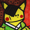 Cartoon: Pablo Pikachu (small) by Munguia tagged pikachu,pablo,picasso,self,portrait,auto,retrato,pokemon,go