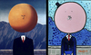Cartoon: papaleta (small) by Munguia tagged regular,show,magritte,art,of,living,munguia,parody