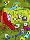 Cartoon: Play (small) by Munguia tagged munguia,calcamunguias,play,botton,playground,games,kids,fun,start