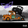Cartoon: Pump Parody (small) by Munguia tagged pump aerosmith mater mate cars rusty toe album cover parodies parody
