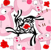 Cartoon: Red Hot Chili Peppa (small) by Munguia tagged blood sugar sex magic red hot chili peppers peppa cover album parodies parody spoof version funny