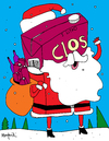 Cartoon: SanTa Clos (small) by Munguia tagged clos,vino,wine,pirque,chile,claus,santa,santaclaus,colacho,drink,alcohol,xmas,christmas
