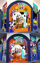 Cartoon: Sketch and Final Mural (small) by Munguia tagged police,mural,art,street,cartoon