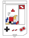 Cartoon: Tetris Mondrian (small) by Munguia tagged tetris,mondrian,video,games,game,boy,gameboy,bricks,munguia,costa,rica,caricaturas,humor,grafico,cartoon