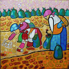Cartoon: Trash Challenge (small) by Munguia tagged jean,francois,millet,the,gleaners,las,espigadoras,famous,paintings,parodies,reto,basura,recoleccion