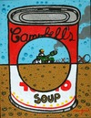 Cartoon: War Hole (small) by Munguia tagged andy,warhole,war,hole,campbell,can,soup,parody,munguia,tank