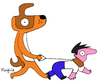 Cartoon: who is the leader? (small) by Munguia tagged dogs alfa leader owner lider walk perro munguia costa rica guau