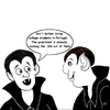 Cartoon: Hungry Vampires in Portugal (small) by mdouble tagged portugal,college,students,vampires,tuition,university