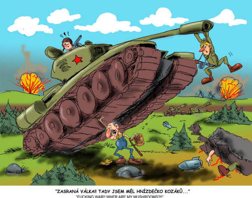 Cartoon: TANK (medium) by Martin Hron tagged tank