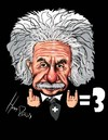 Cartoon: Albert Einstein (small) by Martin Hron tagged einstein