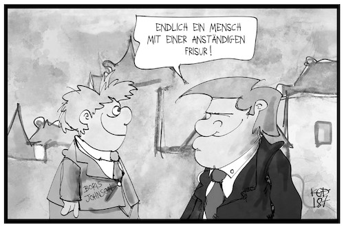 Cartoon: Donald und Boris (medium) by Kostas Koufogiorgos tagged karikatur,koufogiorgos,illustration,cartoon,johnson,trump,uk,usa,frisur,freunde,karikatur,koufogiorgos,illustration,cartoon,johnson,trump,uk,usa,frisur,freunde