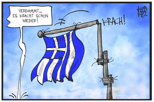 Cartoon: Griechenland (medium) by Kostas Koufogiorgos tagged karikatur,koufogiorgos,illustration,cartoon,griechenland,fahne,flagge,crash,krise,wirtschaft,nation,politik,fahnenmast,fahnenstange,karikatur,koufogiorgos,illustration,cartoon,griechenland,fahne,flagge,crash,krise,wirtschaft,nation,politik,fahnenmast,fahnenstange