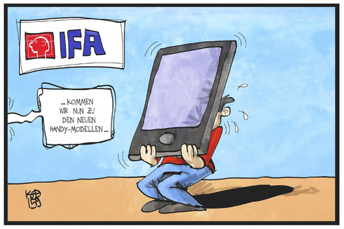 Cartoon: IFA-Trends (medium) by Kostas Koufogiorgos tagged karikatur,koufogiorgos,illustration,cartoon,ifa,handy,smartphone,display,funkausstellung,messe,modell,präsentation,verkauf,trend,technik,telekommunikation,karikatur,koufogiorgos,illustration,cartoon,ifa,handy,smartphone,display,funkausstellung,messe,modell,präsentation,verkauf,trend,technik,telekommunikation