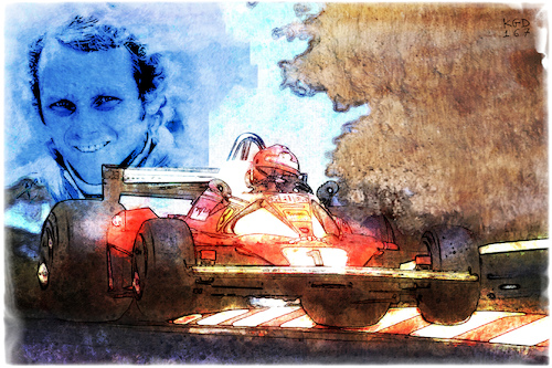 Cartoon: Niki Lauda (medium) by Kostas Koufogiorgos tagged karikatur,koufogiorgos,illustration,cartoon,niki,lauda,sport,rennsport,motorsport,formel,legende,sportler,karikatur,koufogiorgos,illustration,cartoon,niki,lauda,sport,rennsport,motorsport,formel,legende,sportler